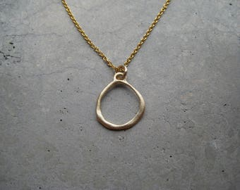 Gold circle necklace, gold vermeil necklace, delicate gold necklace, goldfilled necklace, dainty necklace, layering necklace, SoYouJewellery