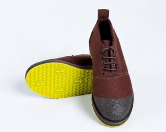 Wool shoes - wool boots - felt shoes