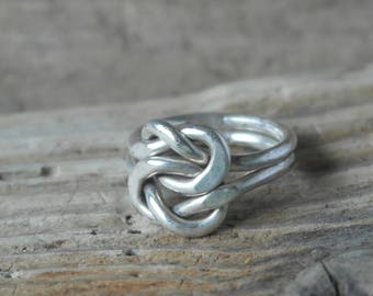Vintage Sterling Silver Double Infinity Celtic Knot Style Ring