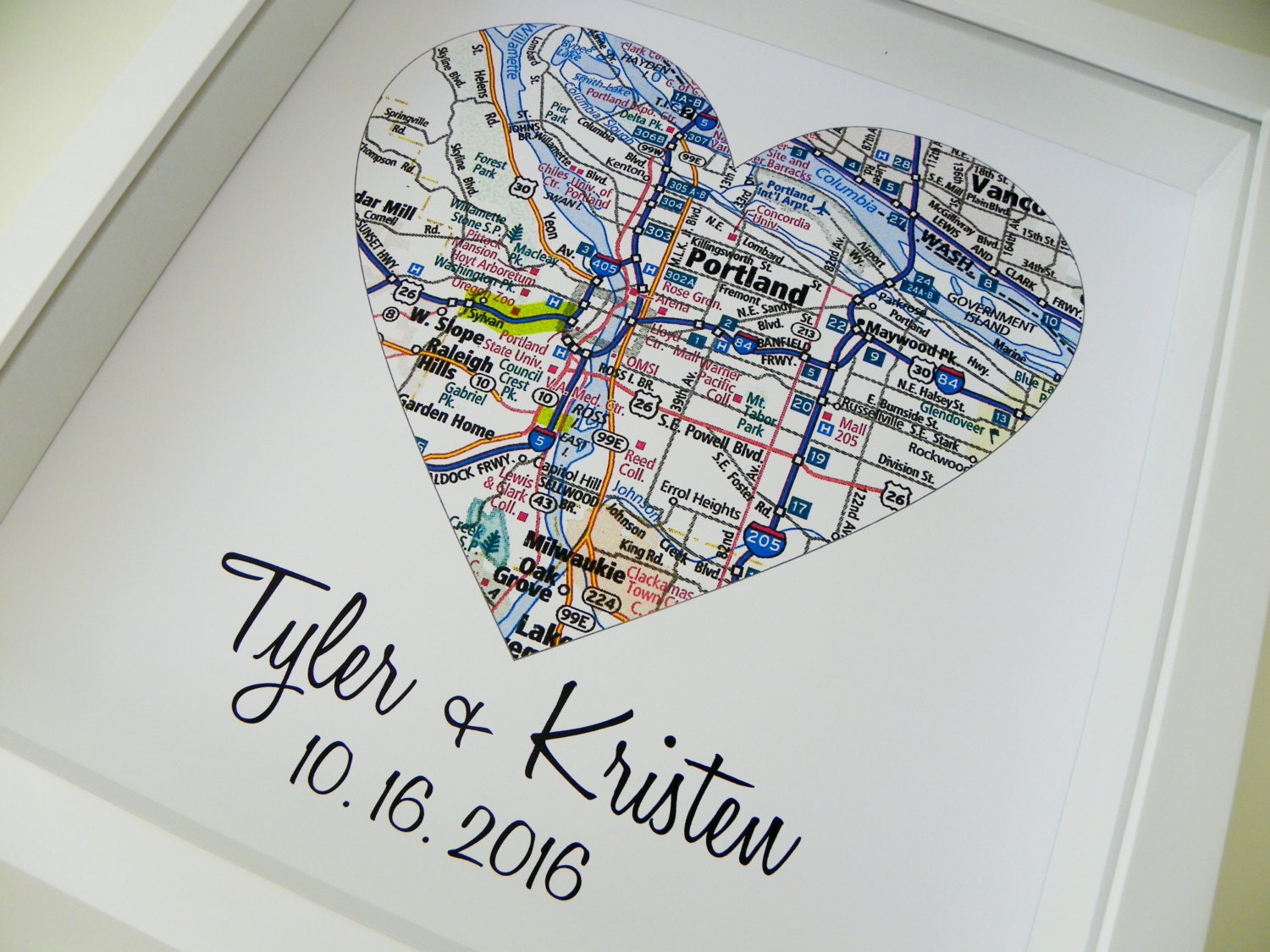 Anniversary gift personalized heart map unique anniversary zoom gumiabroncs Gallery