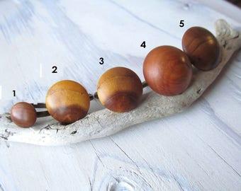women wood ring / natural wood ring for girl / cherry plum, alder, mulberry