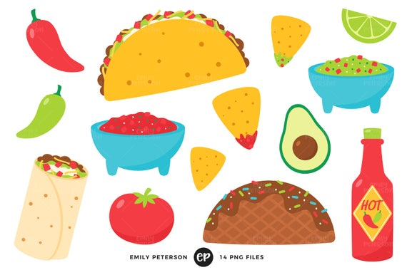 50 off sale taco tuesday clip art taco clipart fiesta clip rh etsy com taco clipart png taco clipart black and white
