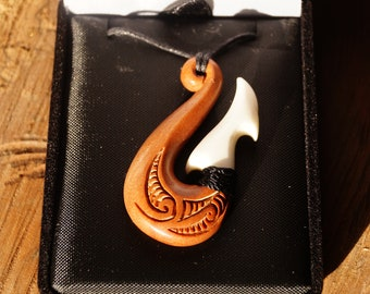 Wood and Bone Pendant
