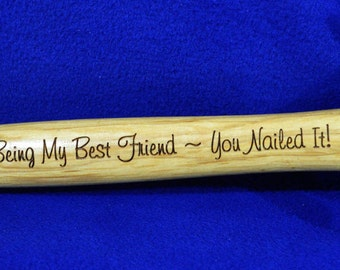 Gift For Friend ~ Best Man Gift ~ Birthday For Brother ~ Engraved Hammer ~ Hammer ~ Gift For Brother ~ Friends ~ Great Gift For Friend ~