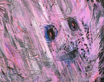 PINK FLAME - original oil painting - one of a kind!