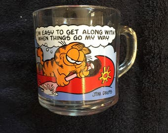Vintage 1978 Garfield & Odie - McDonalds - I'm Easy to Get Along With When Things Go My Way - Coffee Mug! Vintage McDonald's Nostalgia