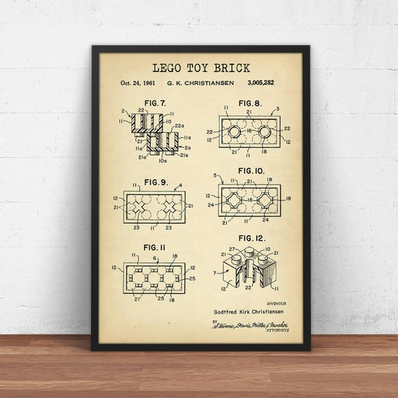 Lego toy brick patent printable lego poster lego toys lego toy brick patent printable lego poster lego toys building brick print nursery decor kids room wall art blueprint digital download malvernweather Gallery