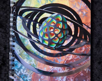 LIGHT WIZARD - Notebook - Connect - Artwork - Sacred Geometry - Visionary Art - Photography - Notepad - Diary - Journal - Book - Art