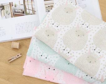 "Double Gauze Cotton Fabric by the yard Korea Gauze fabrics Sleeping Sheep Size 59 x 35"" KDDM-CH 974705"