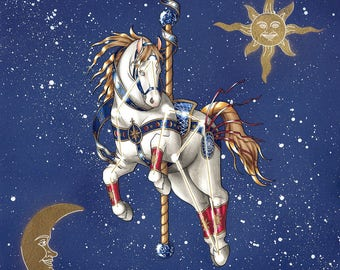 Metallic Constellation Carousel Print
