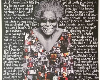 Maya Angelou: Still I Rise, print by Fanta Celah