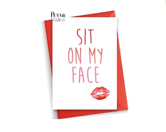 Funny anniversary card sometimes i want to kiss your face