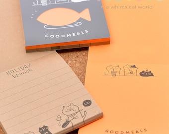 Notepad - Neon & Craft Cat (2pcs) | Notebook | Writing | Study