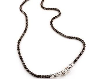 Titanium Necklace Chain for Men / Titanium Jewelry for Men / Mens Chain Necklace / Guys Necklace / Silver Necklace for Men / Titanium Chain