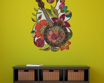 Ever Banjo Wall Sticker Decal by Valentina Harper