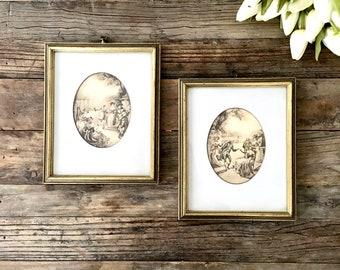 Vintage Sepia Prints Old Period Piece framed art