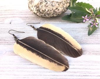 Bohemian Feather   Music Festival, Cruelty-free, Boho Black Earrings, Black Earrings Feathers, Music Festival Wear, Feather Earrings