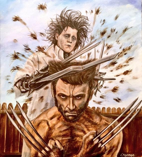 Edward Scissorhands Cuts Wolverines Hair 16x20 Print