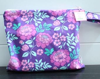 Wet Bag wetbag Diaper Bag ICKY Bag wet proof purple floral gym bag swim cloth diaper accessories zipper gift newborn baby kids beach bag