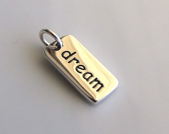 DREAM Sterling Silver Word Charm