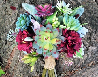 Burgandy Succulent  Bouquet