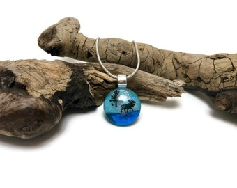 Dichroic glass, Dichroic glass jewelry, Layered Dichroic Glass Pendant, Fused Glass Jewelry, Fused layered Dichroic Necklace, Dichroic Glass