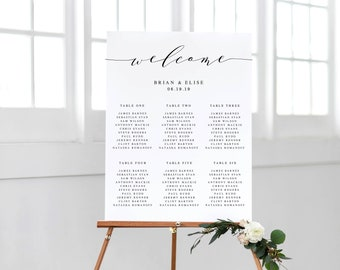 Seating Chart Template | Editable Seating Chart | Printable Seating Chart | Wedding Seating Chart | DIY Seating Chart | 16x20 | 18x24