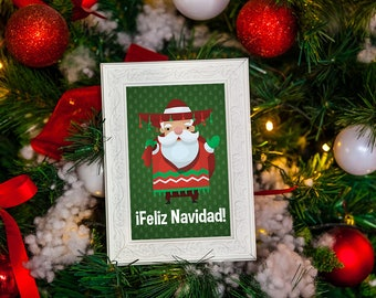 Feliz Navidad Christmas Instant Digital Download Print