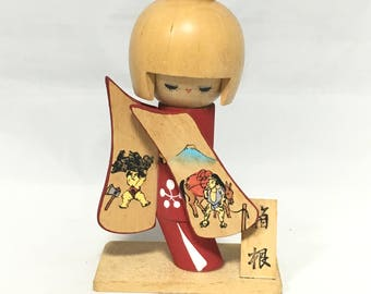 Kokeshi Doll Vintage, Kokeshi Doll, Wooden Doll, Japanese Doll, Antique Kokeshi Doll, Antique Doll, Japanese Doll, Asian Decor