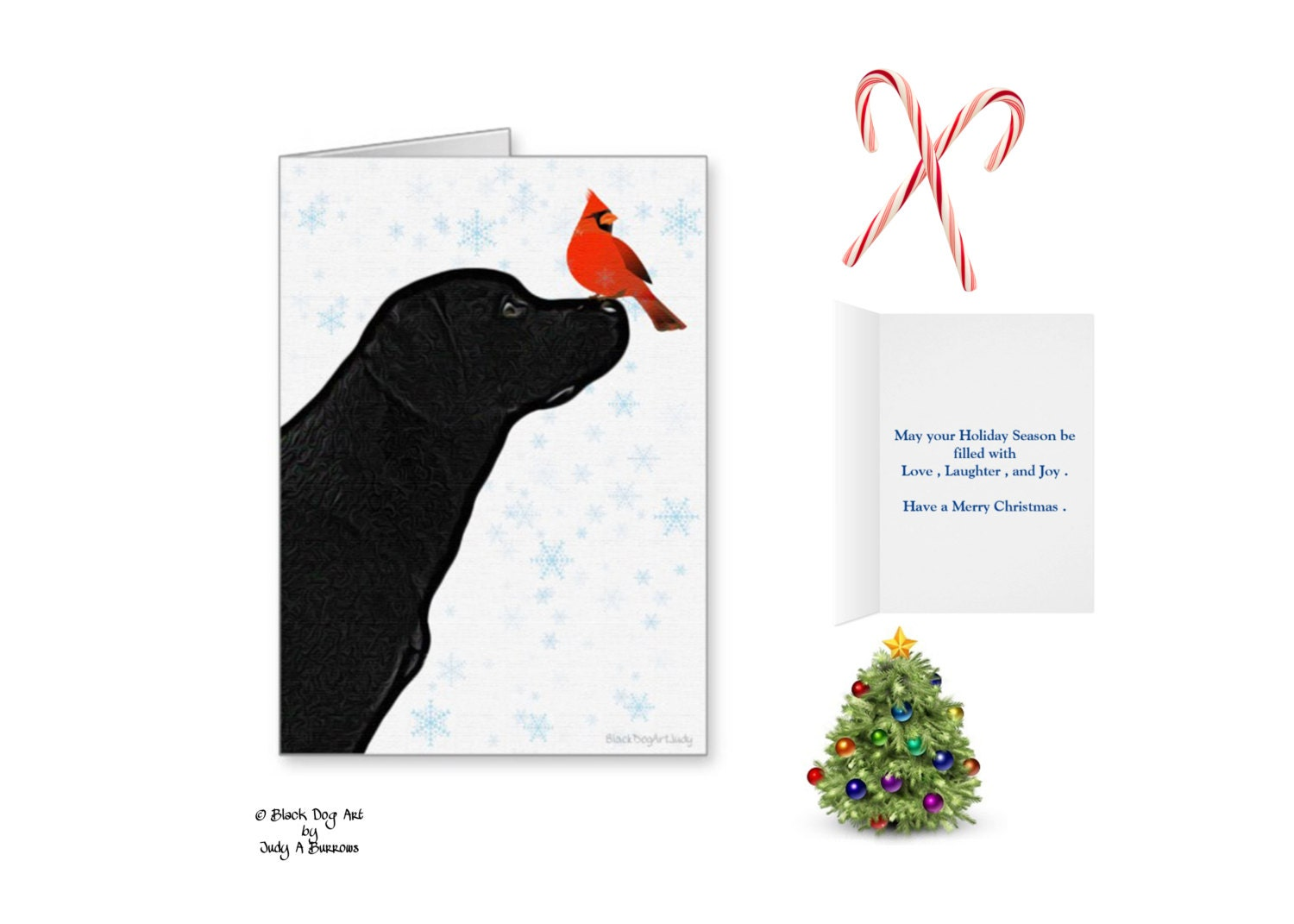 Dog Holiday Cards. hc510 art cards fine art prints wrapped canvas ...
