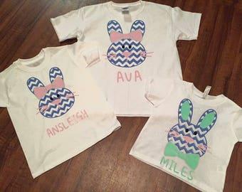 Chevron Easter Bunny Shirt