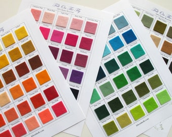 Wool Felt Swatches, Color Samples, Merino Wool Felt, Color Card Set, Swatch Book, Felting, Felt Color Chart, Fabric Swatches, Wollfilz