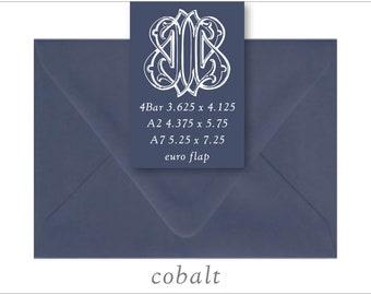 Cobalt | 10 Blank Euro Envelopes | A7 • A2 • RSVP