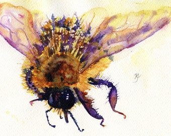 Artist of the Year Awarded for,Plight of the Bumble Bee An original watercolour painting. Bees are insects essential for our survival.