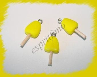 """Eskimo lemon sorbet"" charm in polymer clay"