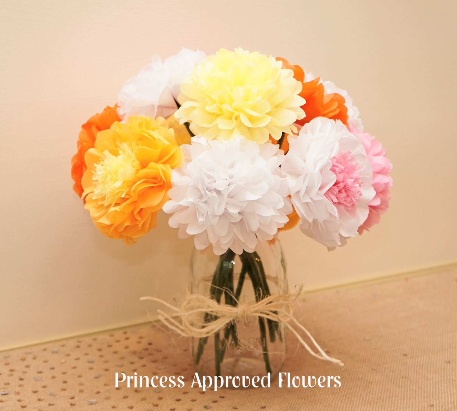 Tissue Paper Flower Bouquets Selol Ink