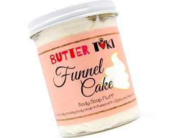 FUNNEL CAKE Whipped Soap Fluff - Cake Soap - Sugar Soap - Whipped Soap - Cream Soap - Vegan - Paraben Free - Gluten Free - Sulfate Free