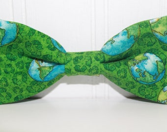 Earth Day Bow Tie, Recycle bow tie, Green bow tie, boy bow tie, baby bow tie, kids bow tie, men's bow tie, wedding bow tie
