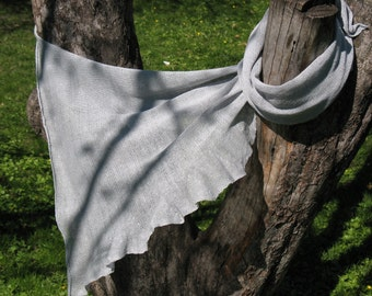 Scarf Shawl Wrap Stole linen pigeon gray, Light