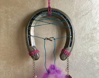 Dream catcher lucky original Horseshoe decorated with Swarovski rhinestones