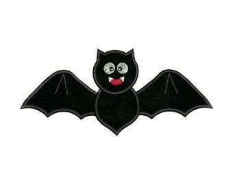 Applique Halloween Bat Embroidery Designs 4X4 and 5X7 Included - Instant Download Sale