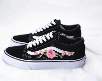 vans old skool blumen