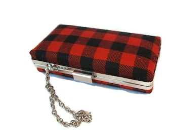 MacGregor Tartan Clutch Purse / Rob Roy Tartan /Bag/ Made in Scotland for Ceilidh / Wedding or Special Occasion Ready to Ship