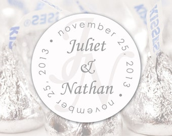 Wedding Chocolate Kisses Label