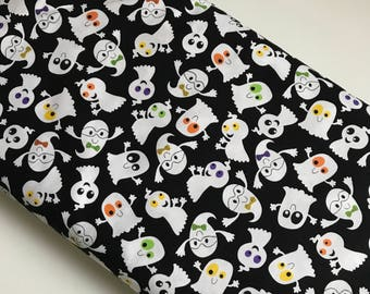 Slime Time Ghosts Black  - Studio E cotton woven fabric by the yard