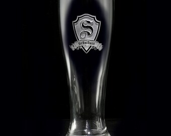 Pilsner Beer Glass, Engraved Personalized Glassware Gifts, M30