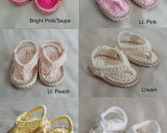 Baby Sandals NB-9 Month,Baby Girl Sandals,Baby Boy Shoes,Crochet Baby Flip Flops,Infant Shoes,Boy/Girl Sandals,Flip Flops,Crochet Baby Gift