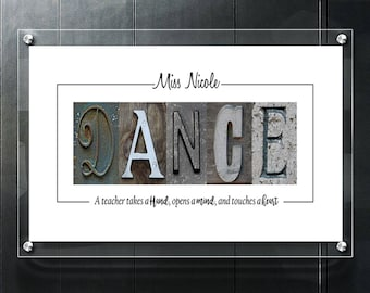 Alphabet Letter Photography-  DANCE Teacher Personalized Letter Art-  Digital Download - Any Size - Free Shipping