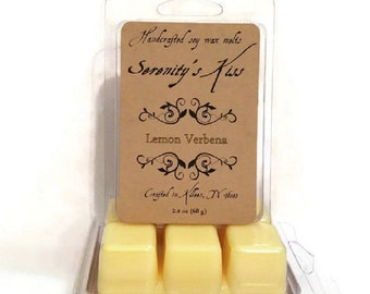 Handcrafted Soy Wax Melt Lemon Verbena Scented 2.4  oz