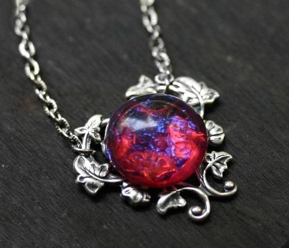 Dragons breath fire opal necklace aloadofball Choice Image